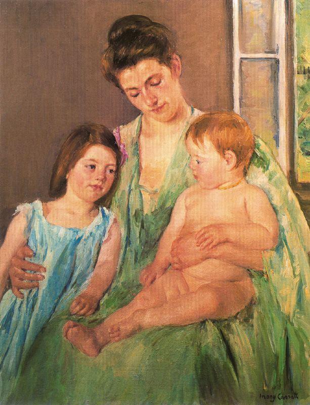madre-con-sus-hijos-cassatt