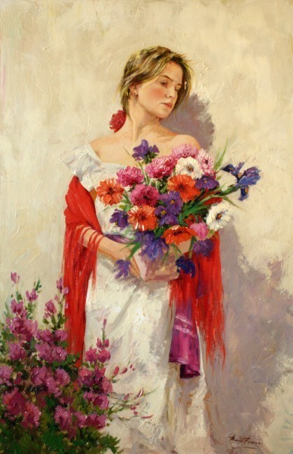 mujer-flores